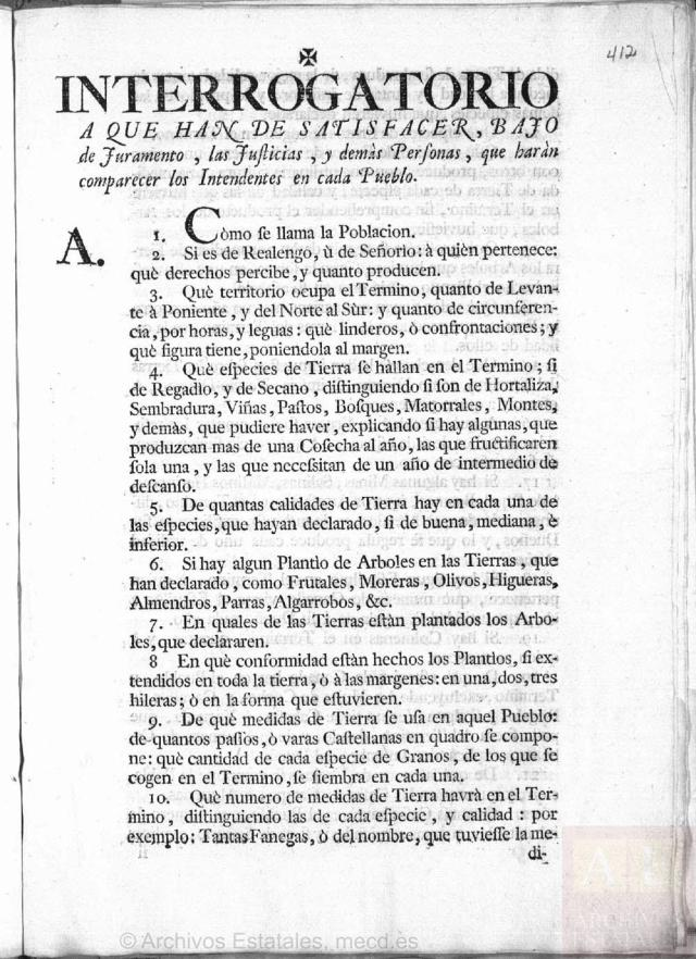 Corresponde a a la microfilmación realizada por el CECOMi sobre las Respuestas Generales depositadas en Simancas e individualizada por pueblos según el Catastro