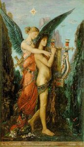 HESÍODO Y LA MUSA, de Gustave Moreau (1891)